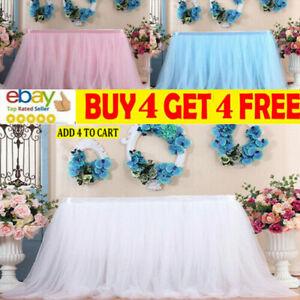 Tutu Tulle Table Skirt Fluffy Table Cloth Cover Wedding/Birthday/Party Decor ma