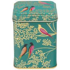 Sara Miller Green Birds Square Storage Tin NEW