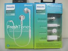 Philips-SHB5250WT-Wireless-Bluetooth-Earphones-Headphones-Headset-w-Mic White