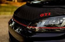 Car Bonnet Hood Bra in DIAMOND + GTI Logo Fits Volkswagen Golf MK7 15 16 17 18