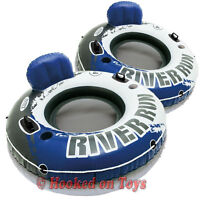 Intex 2pk River Run I Inflatable Tubes - 1 Person Blue & Gray Two Pack 58825