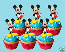 extra large mickey mouse EDIBLE wafer cupcake cake toppers STAND UP XL 7cms high