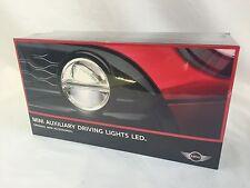 OEM Mini Cooper Retrofit LED Auxiliary Driving Lights Black Full Install Kit Set