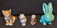 4 ceramic pottery rabbit cat lion bear doulton russia lomonosov  ? sylvac  etc