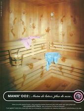 Publicité Advertising 1999  Les préservatif MANIX 002  moins de latex