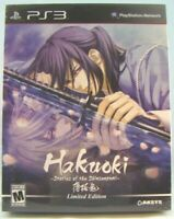 Hakuoki: Stories of the Shinsengumi Limited Edition (Sony PlayStation 3, 2014)