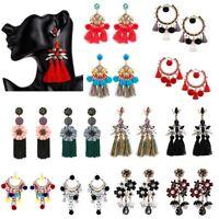 Ear Jewelry Long Tassel Bohemian Women Fringe Fashion Boho Stud Dangle Earrings