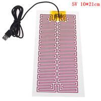 1X USB 5V 10CM*21CM Heating Heater Winter Warm Plate For Waist Shoes Pad-j X0DE