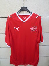 Maillot SUISSE Puma 2008 2010 maglia trikot shirt SWITZERLAND double couche L