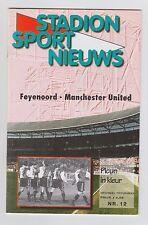 Orig.PRG  Champions League  1997/98  FEYENOORD ROTTERDAM - MANCHESTER UNITED  !!