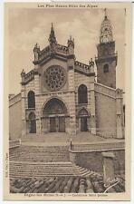AK CP Digne-les-Bains 1934 Cathédrale Saint-Jérome Sepia Dom Kirche