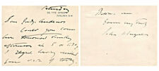 John Singer Sargent Autograph Letter/Note - Authentic!