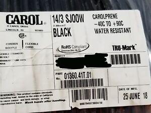 Carol 01360 14/3C Carolprene SJOOW 300V Portable Power Cable Cord Cable /50ft