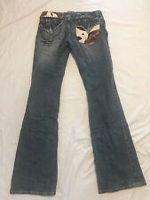 MISS ME Womens Bootcut Jeans Cowhide Cowgirl Western Rodeo Cute 29