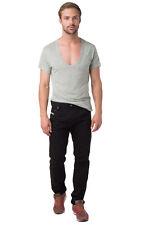 DIESEL Jeans W32 L32 / M Black Crumpled Regular Slim Carrot Fit KRAYVER 008QU