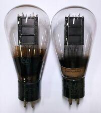 Rare! Two Super Airline 50 (type UX-250 CX-350 equivalent) vacuum tubes