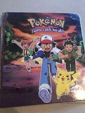 vintage 90s Offical Pokemon Tcg Binder Ash,Misty, Brock and Pikachu