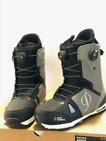 $349 Mens Burton Concord Boa Snowboard Boots Aspen All Sizes NIB Black Gray