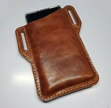 Black & Brown Leather EDC Belt Pocket Pouch for Cell Phone