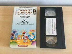 VHS LE MILLE E UNA FIABA ALICE NEL PAESE DELLE MERAVIGLIE CRISTINA D'AVENA (MIS)