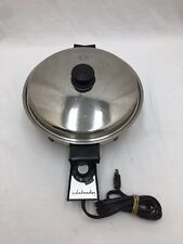 """SALADMASTER 17815 11"""" Electric Skillet Fry Pan Stainless Steel 900 watt"""