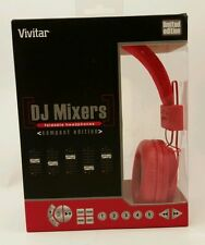 Vivitar DJ Mixers Folding Red Headphones Compact Limited Edition Wired