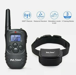 Electric Dog Training  collar with Control Remote Rechargeable Collar 330 Yards