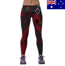 Women's HARLEY QUINN Diamond Suicide Squad Tights Stretch Yoga Pants BRAND NEW
