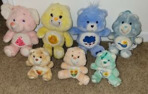 Lot of 7 Care Bears 1980s vintage