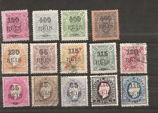 MOZAMBIQUE 1902  14 stamps surch.