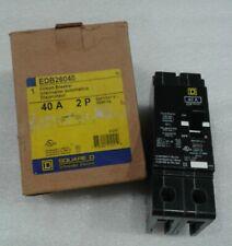 Edb26040 Square D 2 Pole 40 Amp 600V Circuit Breaker New!
