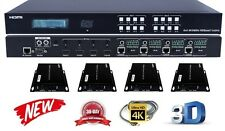 4K 4x4 HDbaseT HDMI Matrix Switcher Package Crestron Control4 Savant HDCP 2.2