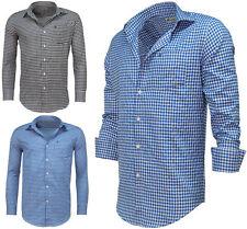 Karierte Herren-Freizeithemden aus Polyester