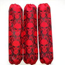 Shock Covers Honda Rancher Red Skulls ATV Set of 3