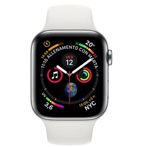 APPLE WATCH SERIES 4 GPS + CELLULAR WHITE SPORT BAND 44MM