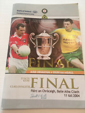 2004 GAA ARMAGH v DONEGAL Ulster Football Final Programme
