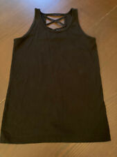 Old Navy Girls Size XL 14 Black Fitted Strappy Tank Top NWOT