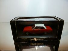 MINICHAMPS 85102 FORD TAUNUS SALOON 1960 - RED 1:43 - EXCELLENT CONDITION IN BOX