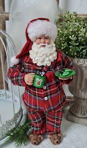 Weihnachtsmann Deko Figur  Weihnachten Christmas Shabby Vintage 28cm