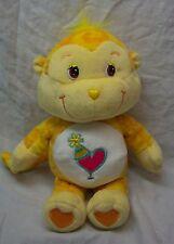 "Care Bears Cousins TIE DYE PLAYFUL HEART MONKEY 9"" Plush STUFFED ANIMAL Toy"
