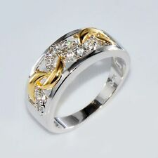 New 10k gold filled womens Cubic Zirconia wedding Engagement ring Size 7 gf79