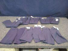 8 BOYS SCHOOL YOUTH KIDS SIZE 4 XS PANTS SHORTS CLOTHING UNIFORM LOT NAVY BLUE