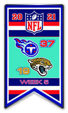 2021 Semaine 5 Bannière Broche NFL Tennessee Titans Vs.Jacksonville Cougars