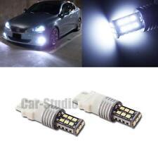 2x 3157 3156 Xenon White LED Turn Signal Blinker Daytime Running Light Bulbs DRL