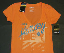 NWT Hurley UNLV Runnin Rebels Deep V-Neck T-Shirt  Womens Sz S Orange Las Vegas