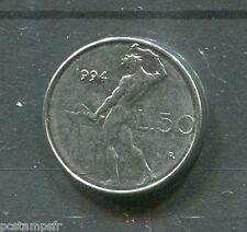 ITALIE pièce de 50 lire PETITE, 1994, type VULCANO, piccola