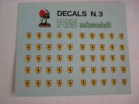DECAL 1/43 SCUDETTI STEMMINI FERRARI 6 X 3,5 GENERICA N.3