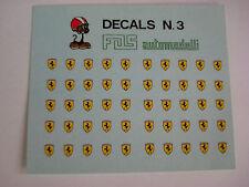 DECAL 1/43 SCUDETTI STEMMI FERRARI 6 X 3,5 GENERICA N.3