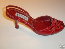 Isaac Mizrahi red leather ladies pumps, Size 7M