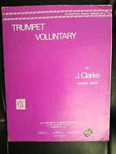 J Clarke Trumpet Voluntary For The Organ Cramer Good Condition
